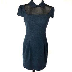 iRoo blue wool dress w/ peter pan collar